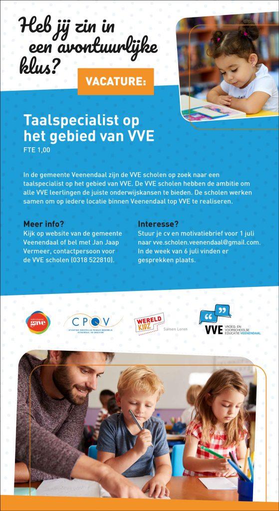 Vacature CPOV Taalspecialist VVE